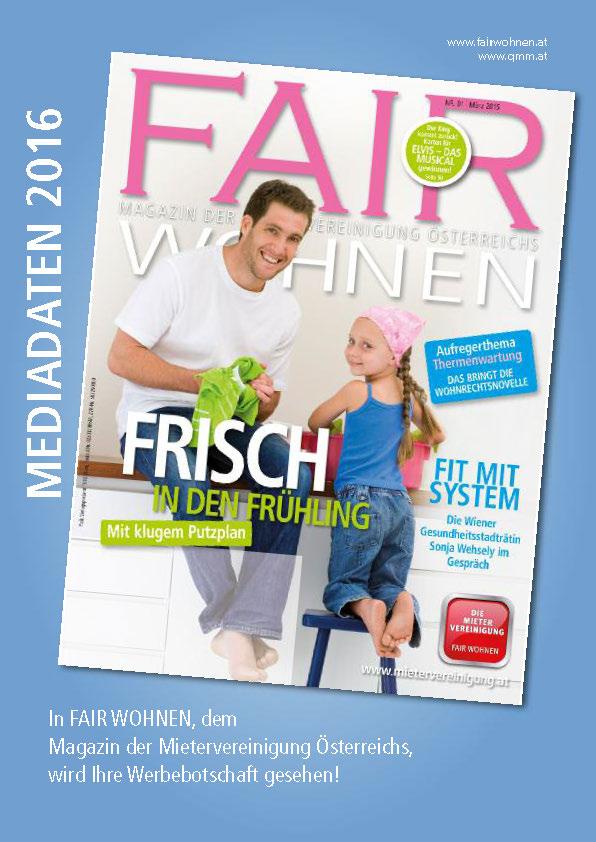 Wohnen Zeitschrift österreich fair wohnen magazin